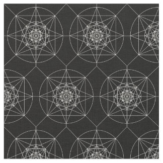 Third Dimensional Sacred Geometry Fabric