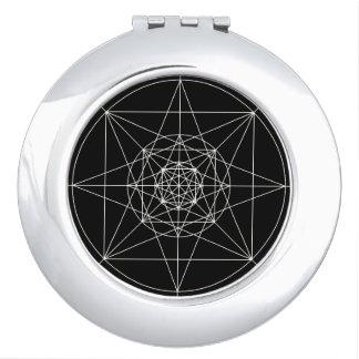 Third Dimensional Sacred Geometry Makeup Mirror