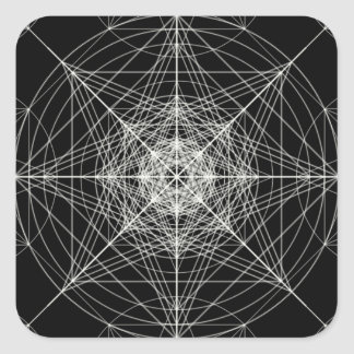 Third Dimensional Sacred Geometry Square Sticker