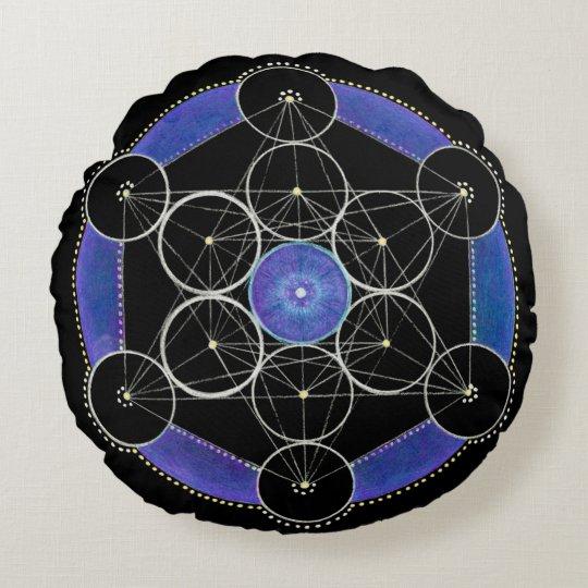 Third Eye Awakening Mandala Custom Round Pillow