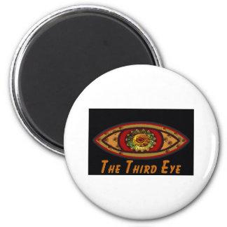 Third Eye - Black Print with Caption by Manda 2 Inch Round Magnet