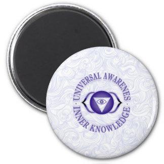 Third Eye chakra 2 Inch Round Magnet