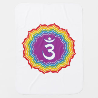 Third Eye chakra Baby Blankets