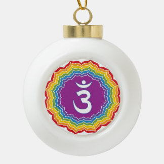 Third Eye chakra Ceramic Ball Ornament