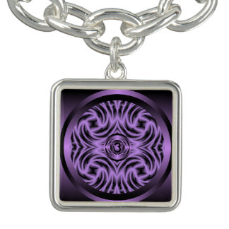 Third Eye Chakra Mandala Charm Bracelet