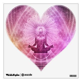 Third Eye Chakra Meditation Wall Decal