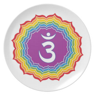 Third Eye chakra Party Plate