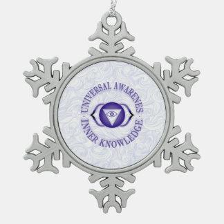 Third Eye chakra Pewter Snowflake Ornament