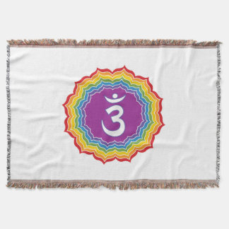 Third Eye chakra Throw Blanket