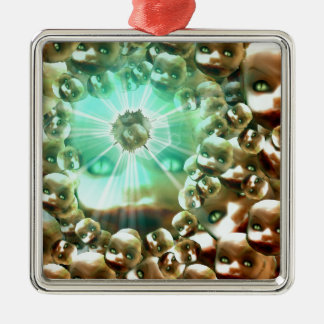 Third eye Dolly Metal Ornament