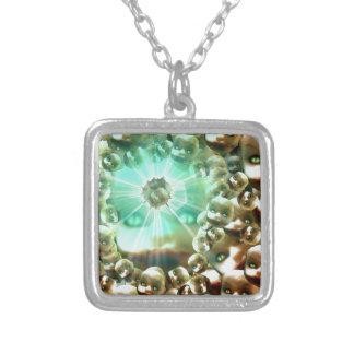 Third eye Dolly Silver Plated Necklace