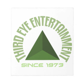 Third eye entertainment since 1973 notepad