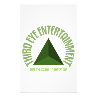 Third eye entertainment since 1973 stationery