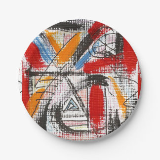 Third Eye-Hand Painted Abstract Art 7 Inch Paper Plate