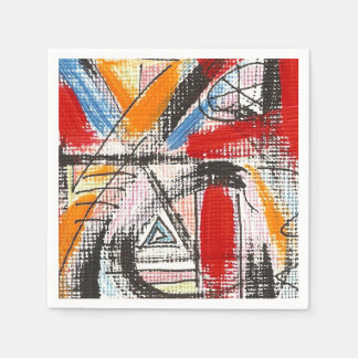 Third Eye-Hand Painted Abstract Art Paper Napkin