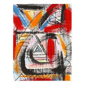 Third Eye-Hand Painted Abstract Art Postcard