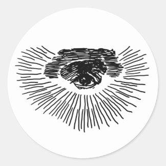 Third Eye Round Sticker