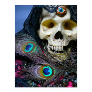 third eye skull postcard
