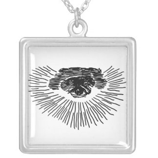 Third Eye Sterling Silver Silver Plated Necklace
