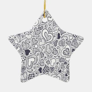 Third  February - Doodle Day - Appreciation Day Ceramic Ornament