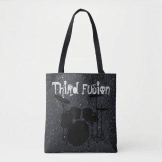 Third Fusion Drums Black/Grey Tote Bag