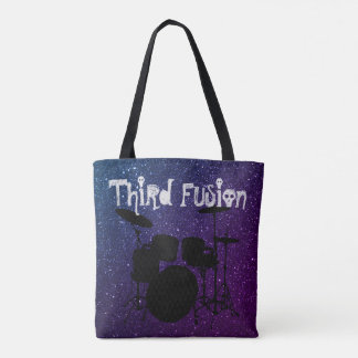 Third Fusion Drums Purple & Blue Tote Bag