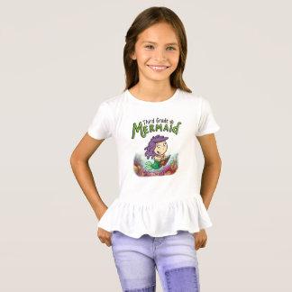 Third Grade Mermaid girls ruffled bottom shirt