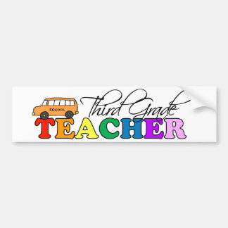 Third Grade Teacher Bumper Sticker