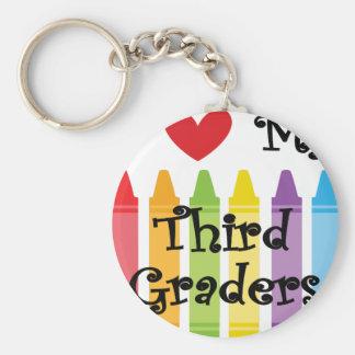 Third grade teacher keychain