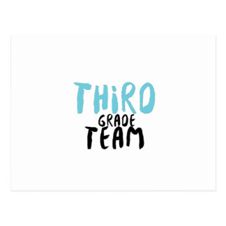 Third Grade Team , 3rd Third Grade Teacher Postcard