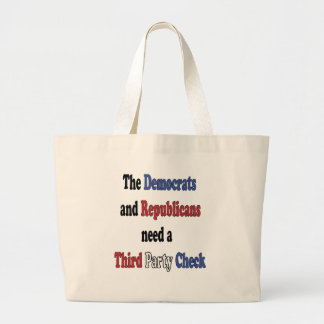 Third Party Check T-Shirt Tote Bags