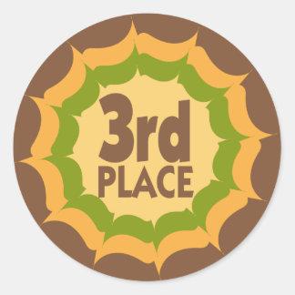 Third Place Ribbon Winner Classic Round Sticker