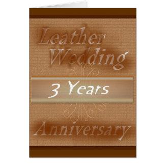 Third Wedding Anniversary ~ Leather Card