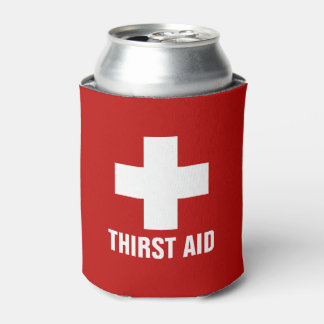 Thirst Aid Funny Can Cooler