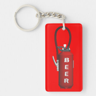 Thirst Quencher Beer Double-Sided Rectangular Acrylic Keychain