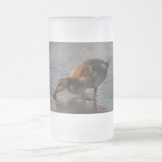 Thirsty Baby Frosted Glass Beer Mug