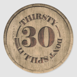 Thirsty Thirty Stickers