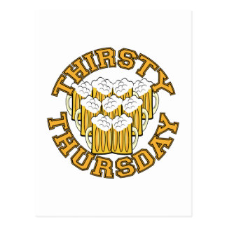 Thirsty Thursday Postcard