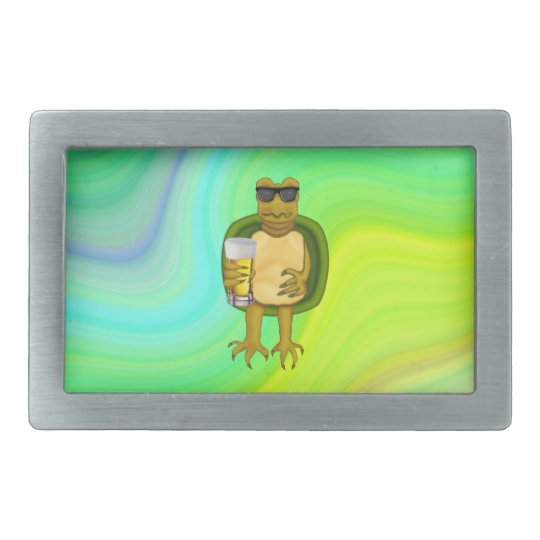 Thirsty Turtle Rectangular Belt Buckles