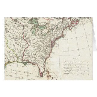 Thirteen Colonies Vintage Map (1776) Card
