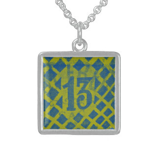 Thirteen - Necklace lime/blue