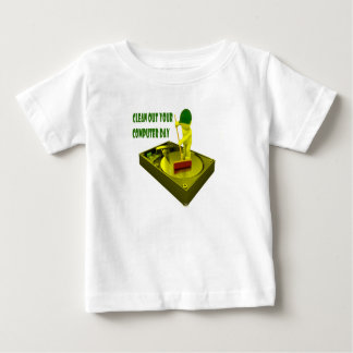 Thirteenth February - Clean Out Your Computer Day Baby T-Shirt