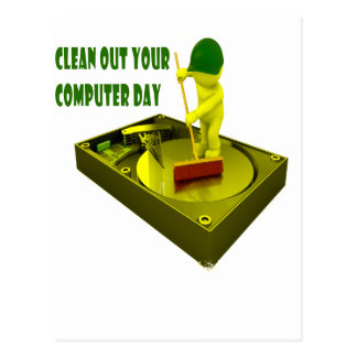 Thirteenth February - Clean Out Your Computer Day Postcard