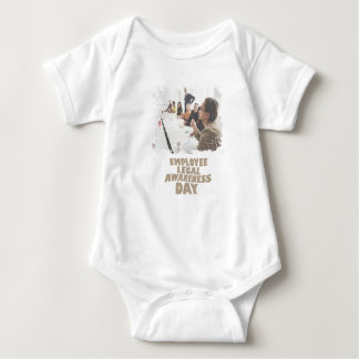 Thirteenth February - Employee Legal Awareness Day Baby Bodysuit