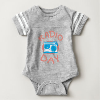 Thirteenth February - Radio Day - Appreciation Day Baby Bodysuit