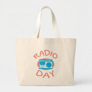 Thirteenth February - Radio Day - Appreciation Day Large Tote Bag