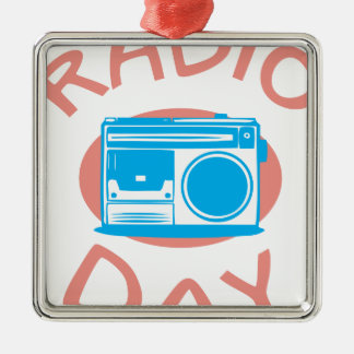 Thirteenth February - Radio Day - Appreciation Day Metal Ornament