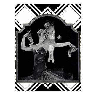 Thirties Dancing Deco Postcard