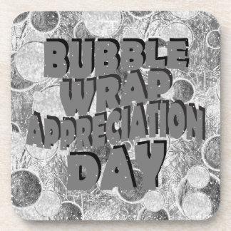 Thirtieth January - Bubble Wrap Appreciation Day Coaster