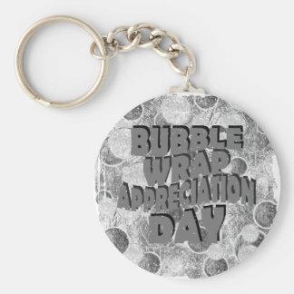 Thirtieth January - Bubble Wrap Appreciation Day Keychain